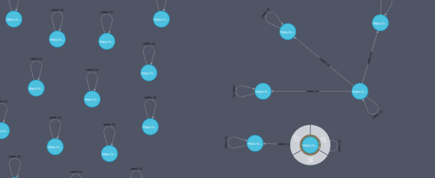 Visualizing a website with a graph database