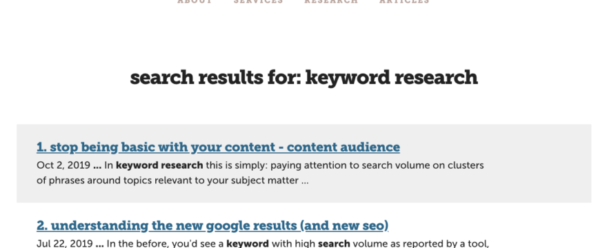 Powering your site search with Google search results